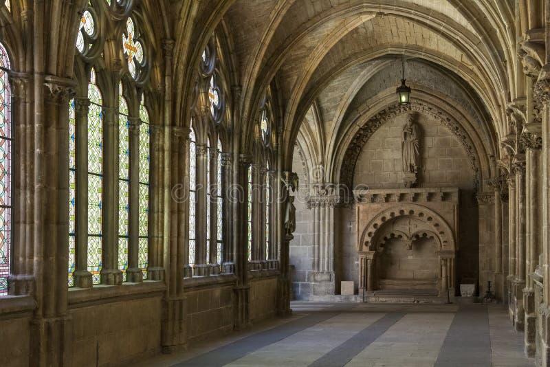 Katedralni Burgos Cloisters Hiszpania - Burgos - zdjęcia royalty free