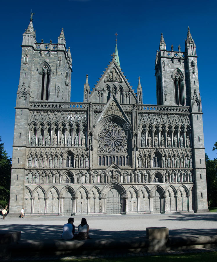 katedralni nidaros Trondheim zdjęcia stock