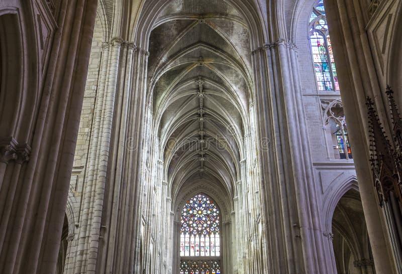 Katedralny święty Gatien wycieczki turysyczne, Loire dolina, Francja obraz royalty free