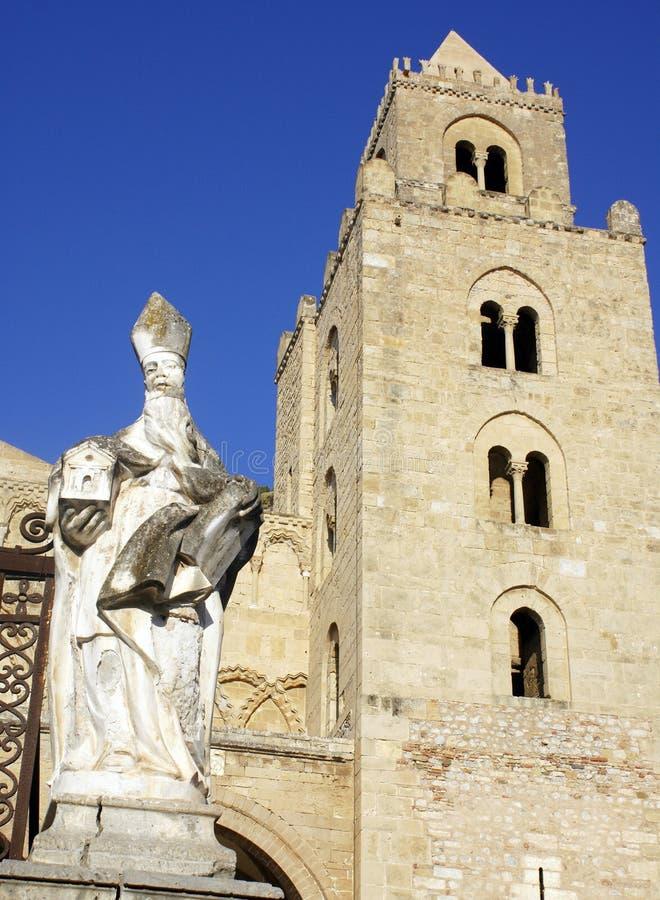 katedralny cefalu zdjęcie royalty free