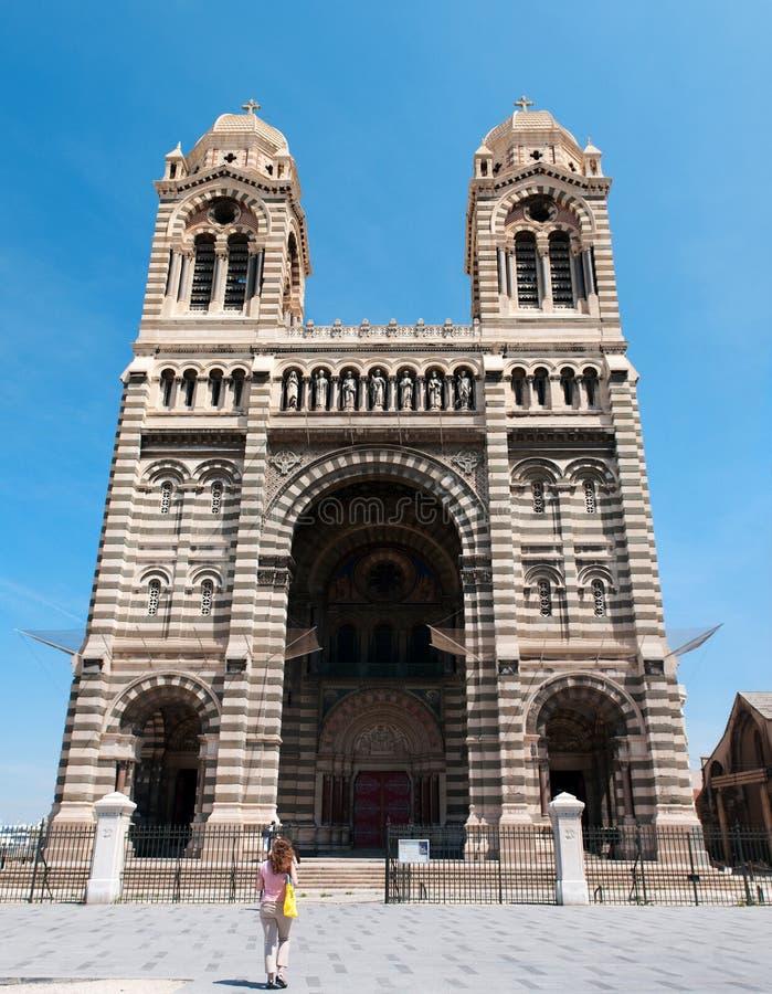 katedralny de losu angeles major Marseille zdjęcie royalty free