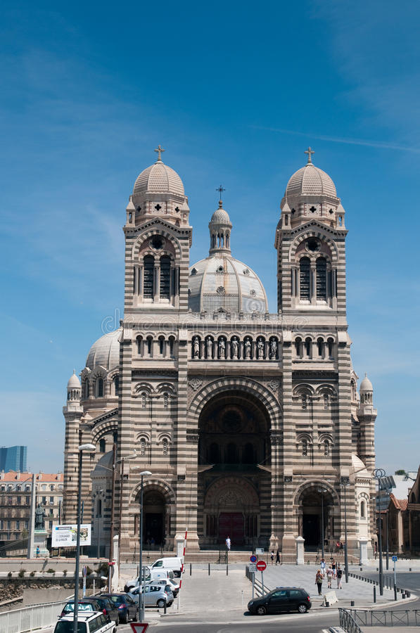katedralny de losu angeles major Marseille zdjęcia royalty free