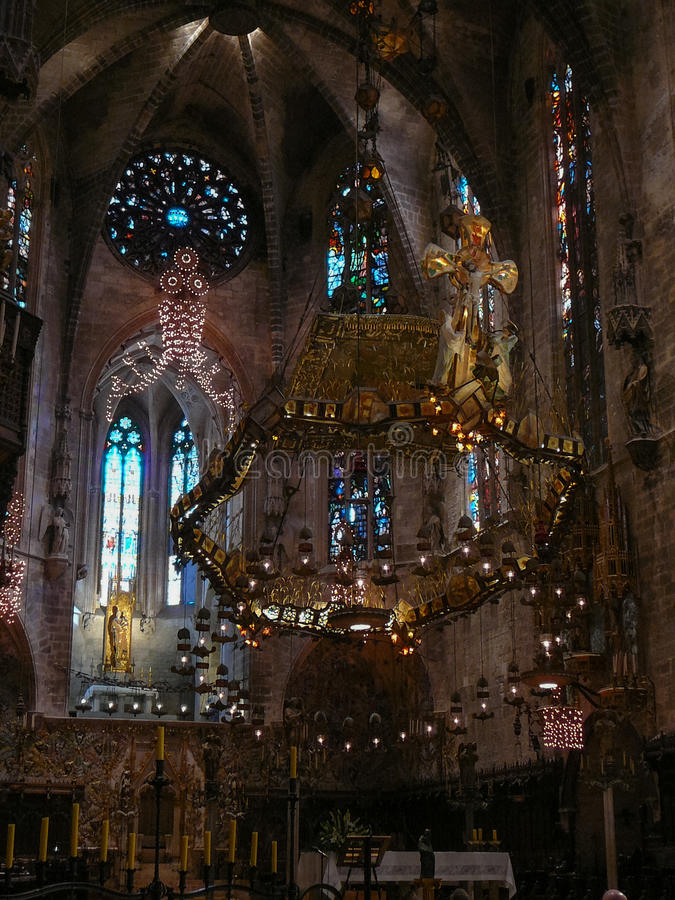 katedralny de losu angeles Mallorca palma seu obrazy royalty free