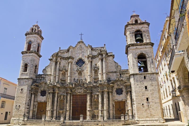 Katedralny De San Cristobal De Los Angeles Hawański zdjęcie stock