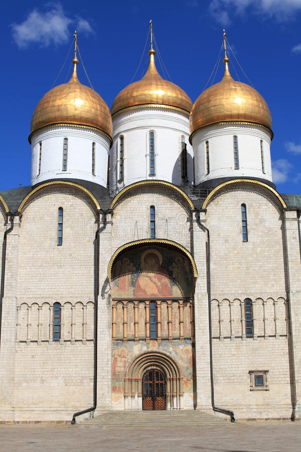katedralny dormition Kremlin Moscow Russia fotografia royalty free