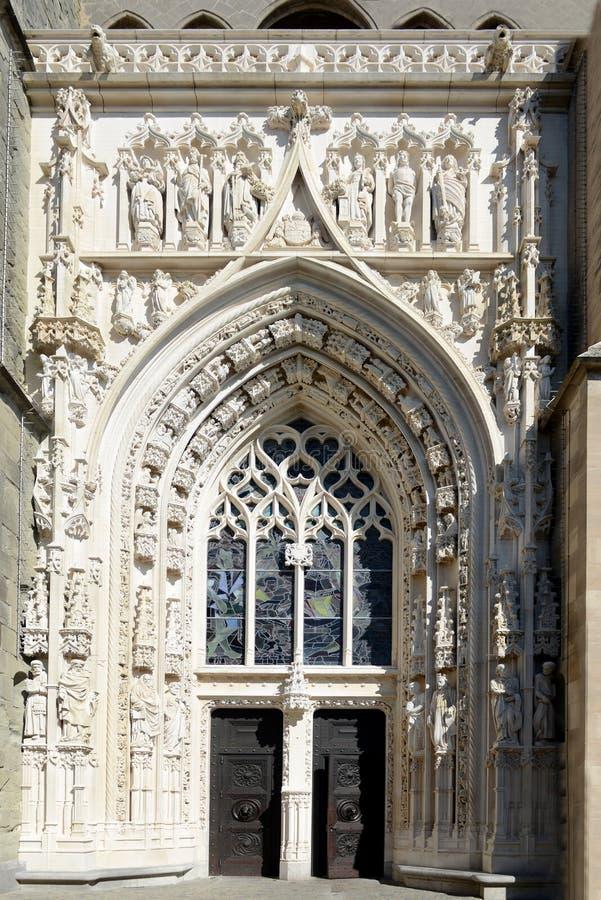 Katedralny drzwi obraz royalty free