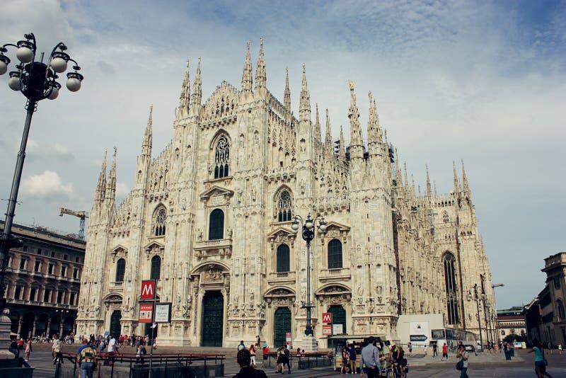 katedralny duomo fasadowy Italy Lombardy Milan Milano zdjęcie royalty free