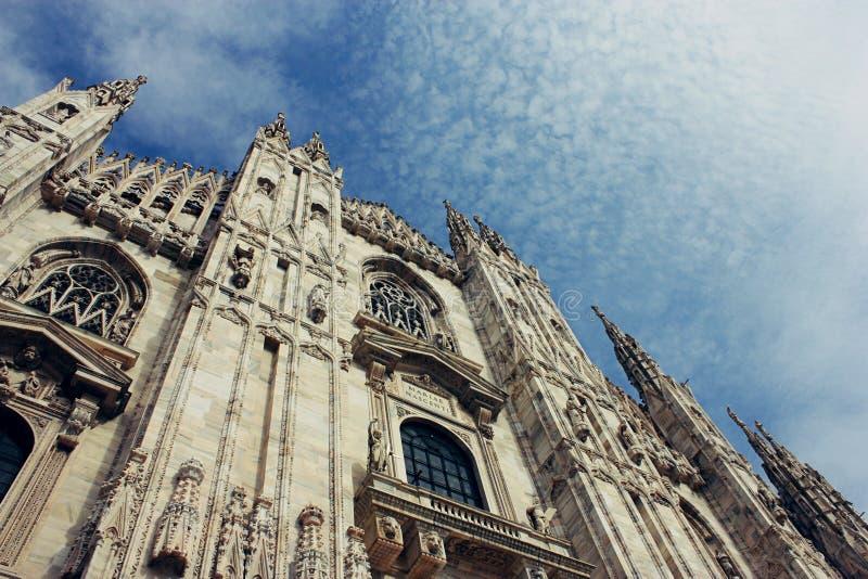 katedralny duomo fasadowy Italy Lombardy Milan Milano obraz stock