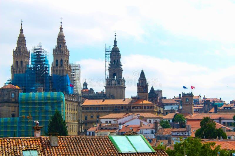 katedralny Erfurt historyczne zdjęcie thuringia obraz royalty free