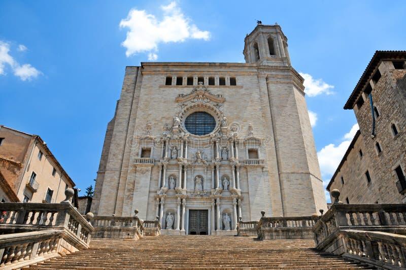 katedralny Girona fotografia royalty free