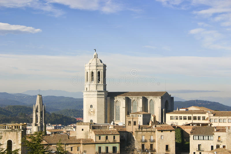 katedralny Girona obrazy royalty free