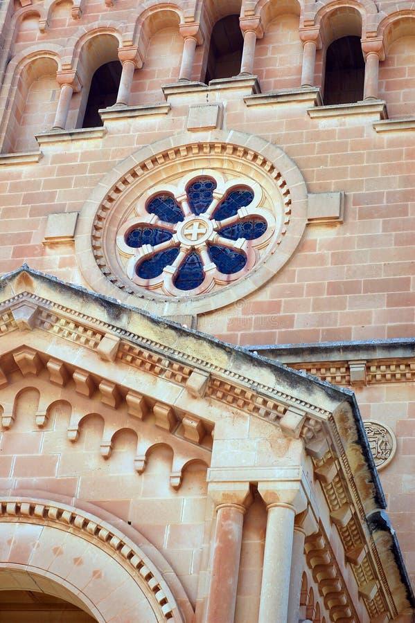 katedralny gozo Malta okno fotografia royalty free