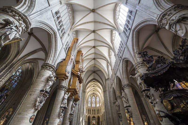 Katedralny Gudule de Bruxelles, Belgia fotografia stock