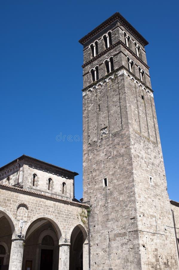 katedralny Italy Lazio średniowieczny Rieti obrazy royalty free