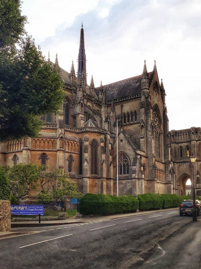 Katedralny kościół Nasz dama Philip St i Howard lub właśnie Arundel katedra zdjęcie stock