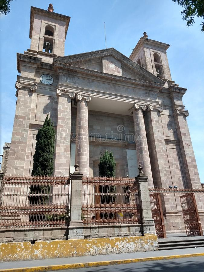 Katedralny kościół tulancingo zdjęcia royalty free