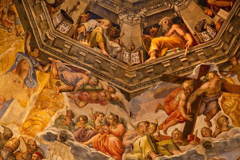 katedralny kopuły duomo Florence fresku vasari obrazy stock