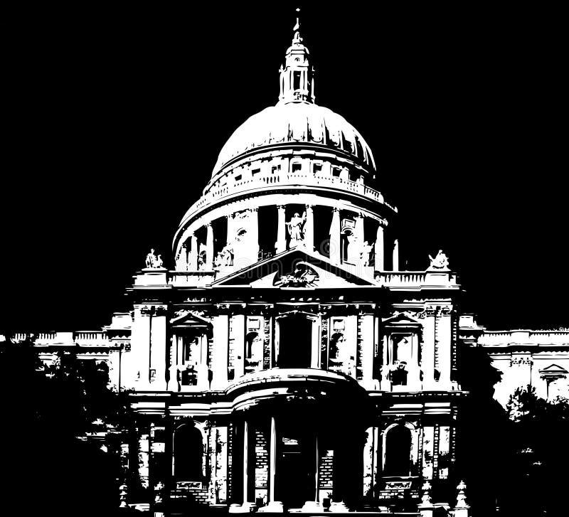 katedralny London pauls st ilustracji