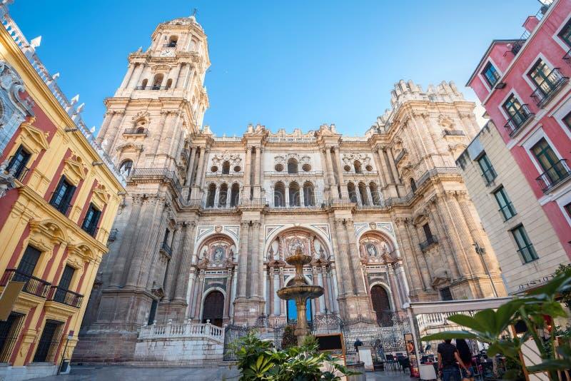 katedralny Malaga Andalusia, Hiszpania zdjęcie stock