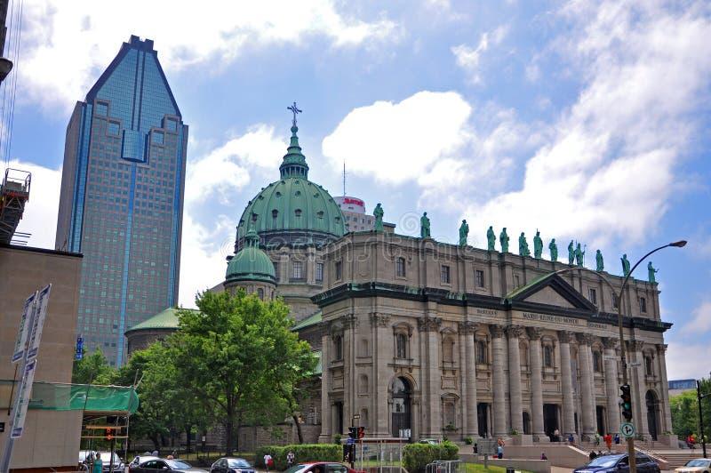 katedralny Mary Montreal królowej świat zdjęcie stock
