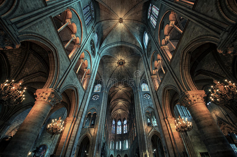 Katedralny Notre Damae w Paryż obrazy royalty free