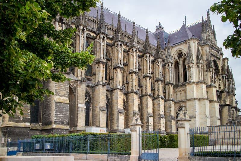 Katedralny Notre Damae w Reims obraz stock
