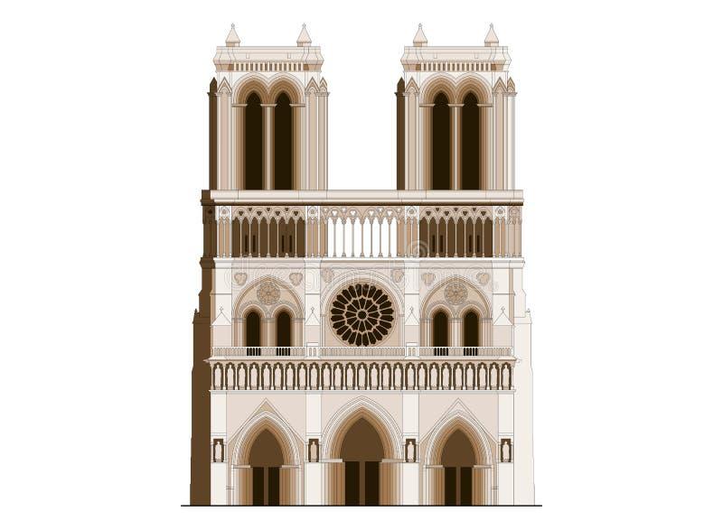 Katedralny notre-dame de paris w Francja - 2 royalty ilustracja