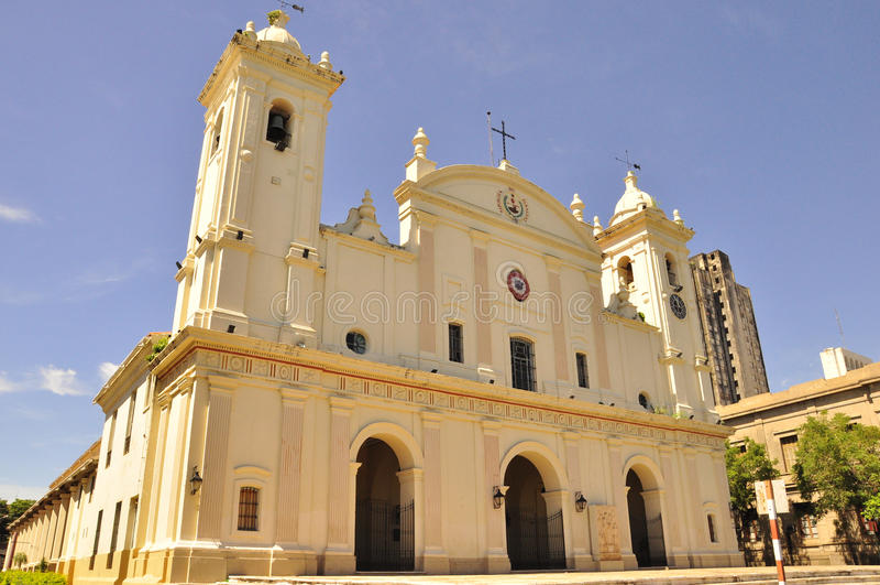 Katedralny Nuestra Senora de los angeles Asuncion fotografia royalty free