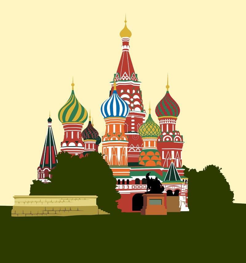 katedralny plac czerwony royalty ilustracja