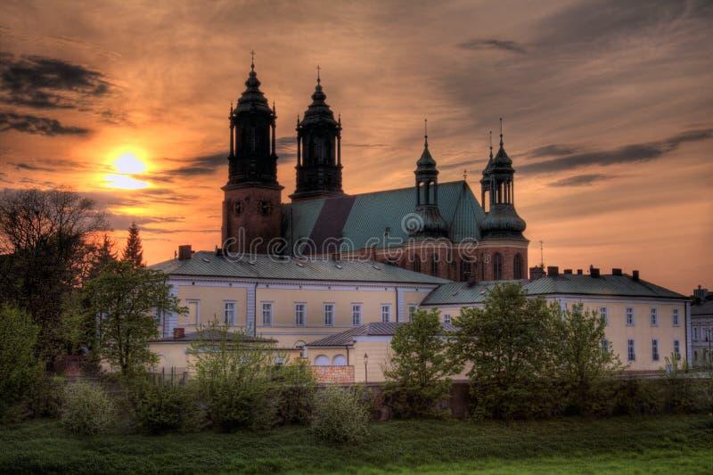 katedralny Poznan obraz royalty free