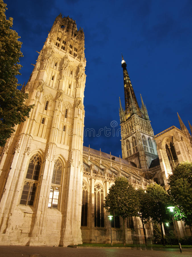 katedralny Rouen zdjęcia royalty free