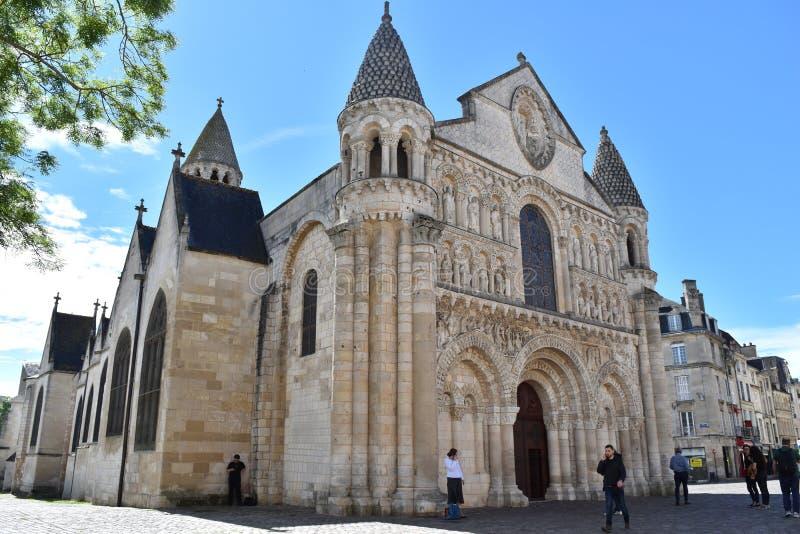 Katedralny saint pierre de Poitiers zdjęcie stock