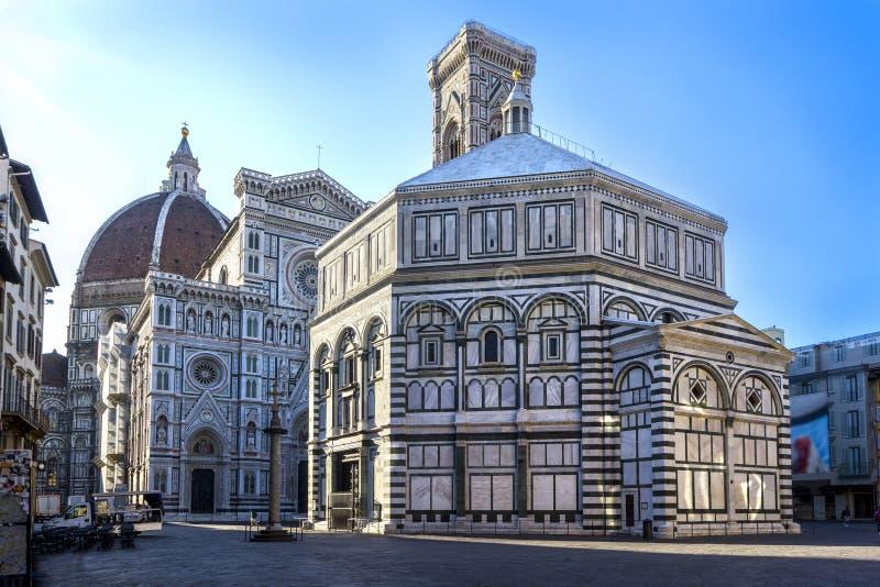 Katedralny Santa Maria Del Fiore wschodu słońca widok, Florencja, Tuscany, Włochy obraz stock