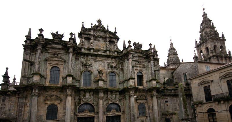 katedralny Santiago de compostela Galicji Hiszpanii obraz stock
