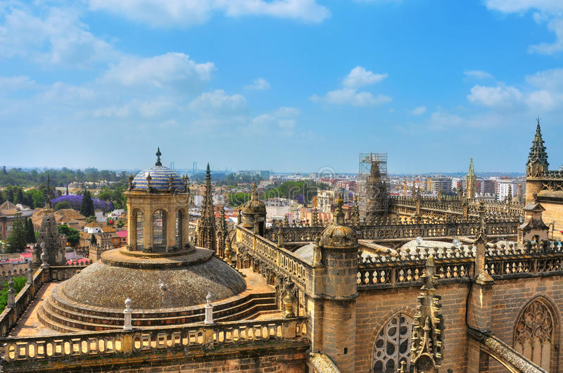 katedralny Seville Spain obrazy royalty free