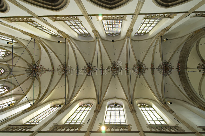 katedralny sufit obraz royalty free