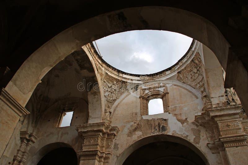 katedralny sufit de Santiago obrazy stock
