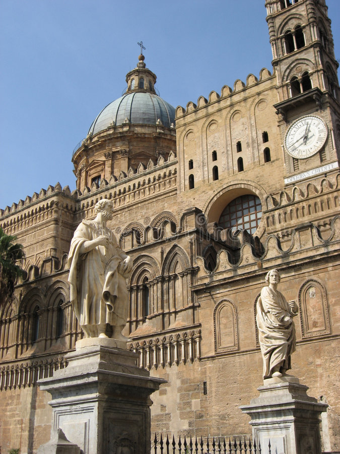 katedralny szczegół Italy Palermo Sicily zdjęcia stock