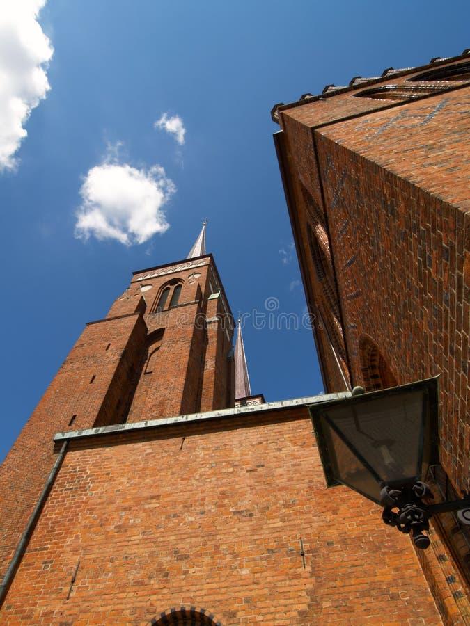 katedralny tower Roskilde zdjęcie royalty free