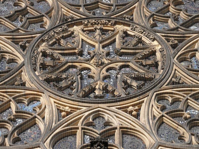 katedralny vitus różyczkowy Prague st. zdjęcia royalty free