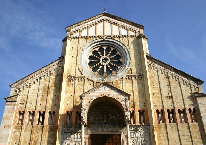 katedralny Włoch romanic zan Zeno Verona zdjęcia stock
