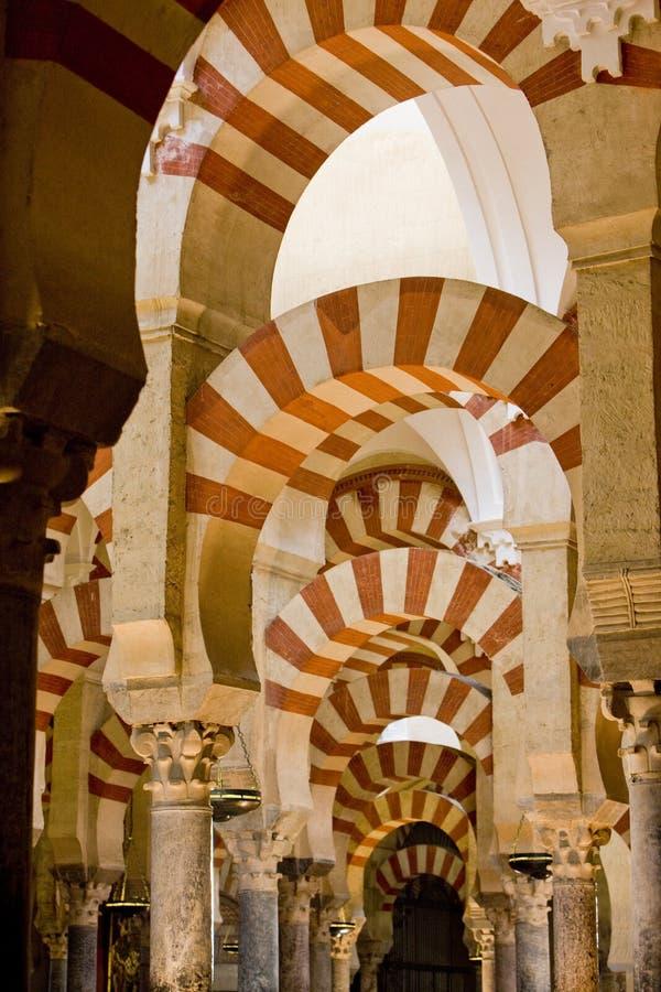 katedralny wewnętrzny meczet zdjęcia royalty free