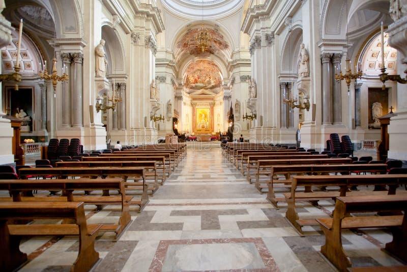 katedralny wewnętrzny Palermo Sicily fotografia stock