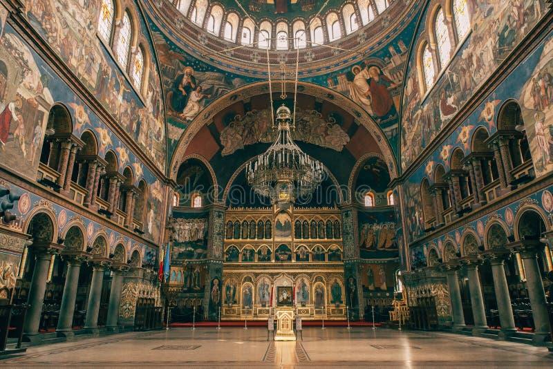 Katedralny wnętrze brać w Sibiu Rumunia obraz royalty free