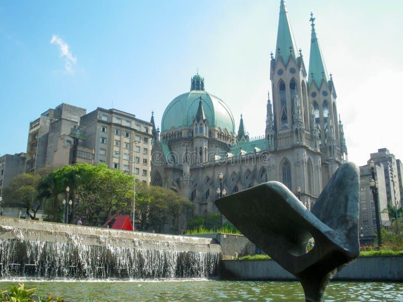Katedry da Se, Sao Paulo, Brazylia obrazy stock