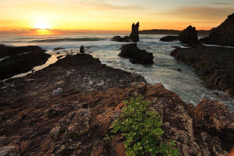 Katedry skała przy wschodem słońca NSW Australia fotografia royalty free