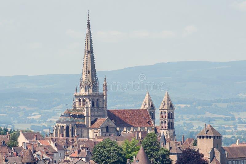 Katedry St Lazare, Francja obraz royalty free