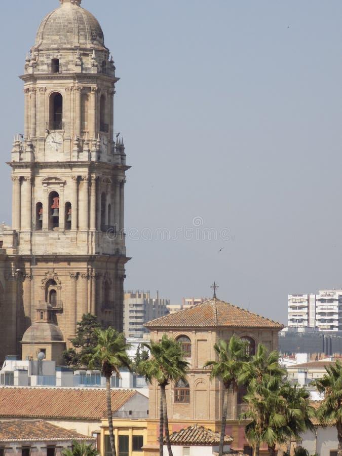 - katedry wierza Malaga, Spain, Europe - zdjęcia stock
