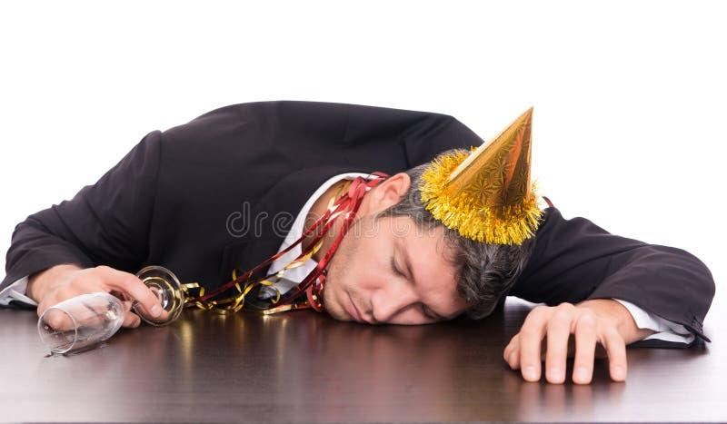 Katermann nach Party stockbild