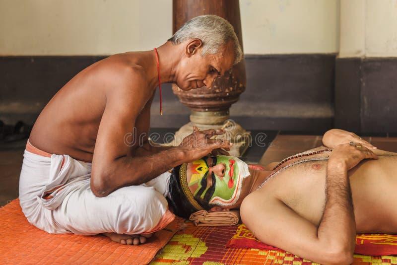 Kathakali构成 免版税图库摄影